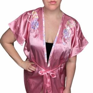 Vintage Victoria's Secret Gold Label Robe Pink M